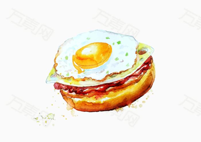 万素网 免抠元素 装饰元素 卡通汉堡  万素网提供卡通汉堡png设计素材