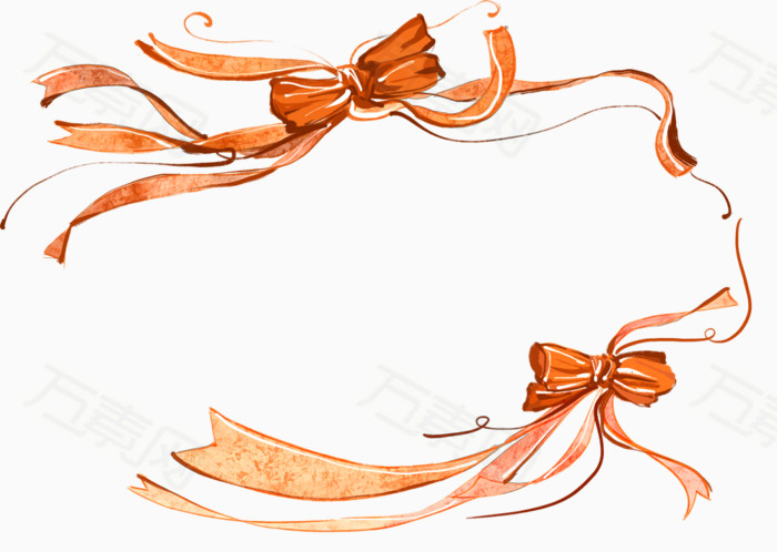丝带边框设计  花朵植物丝带边框 花朵 花卉