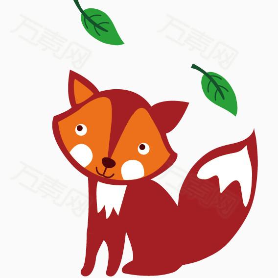 卡通矢量小动物狐狸