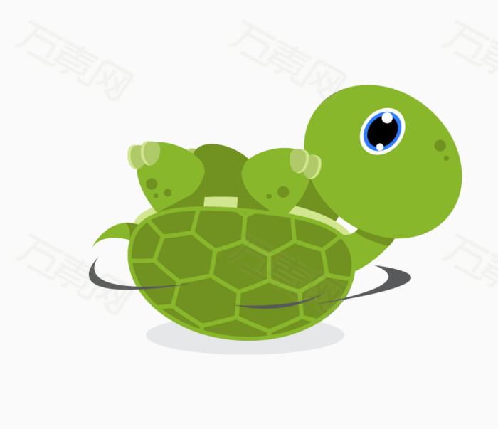乌龟,卡通,手绘,png,元素,绿色,动物,可爱,海洋元素,龟壳