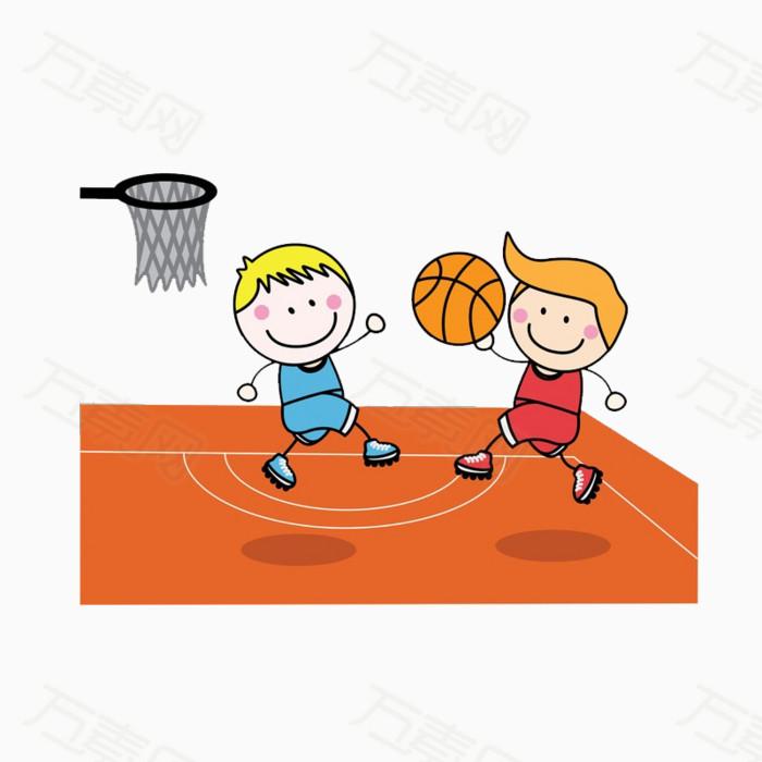 儿童打篮球 篮球场 比赛 玩耍 体育 运动 场景