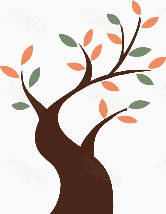 卡通手绘创意树图片免费下载_装饰元素_万素网