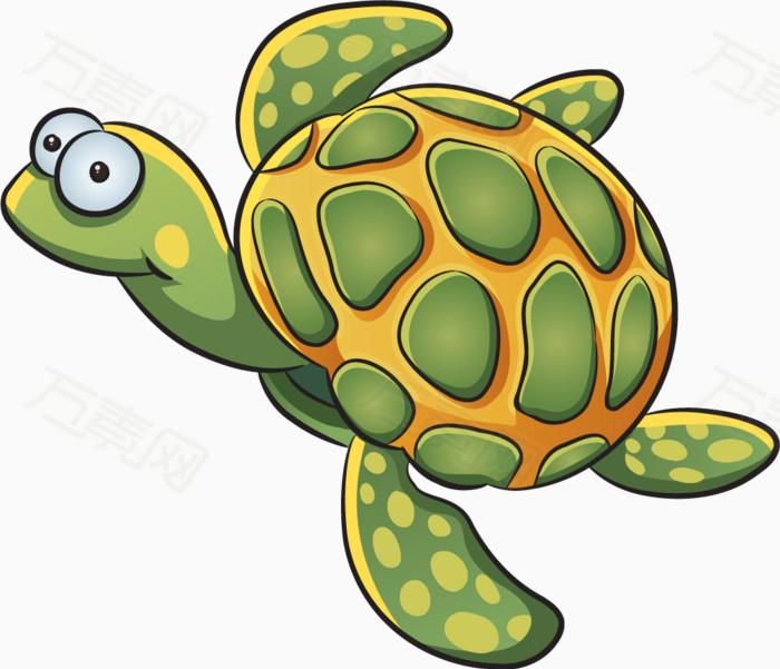 卡通动物 手绘 海底动物 海洋生物 乌龟 可爱乌龟