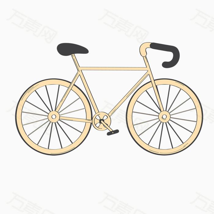 手绘风自行车