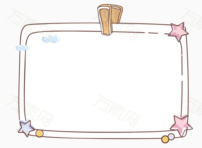 卡通素描画板边框图片免费下载_边框纹理_万素网