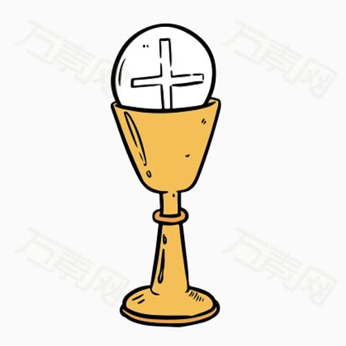 简笔画素材 卡通 手绘 酒杯png 硬笔 杯子