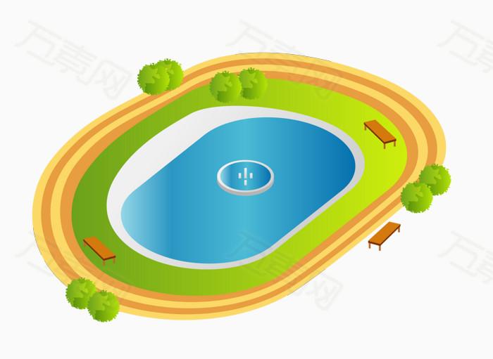卡通游泳池图片