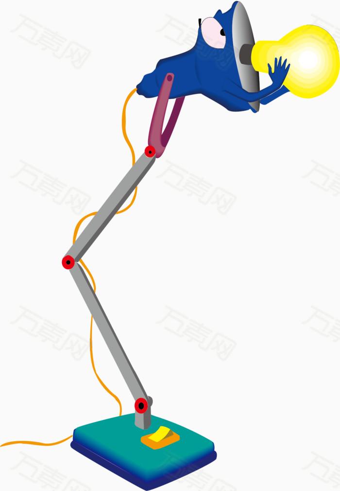 万素网提供手绘小台灯素材图片png设计素材,背景素材