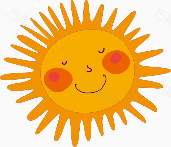 卡通手绘可爱太阳图片免费下载_装饰元素_万素网