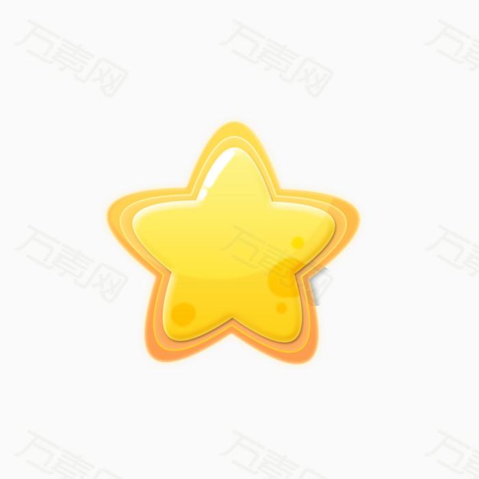星星 五角星 圆角星星 图标 卡通小星星  可爱