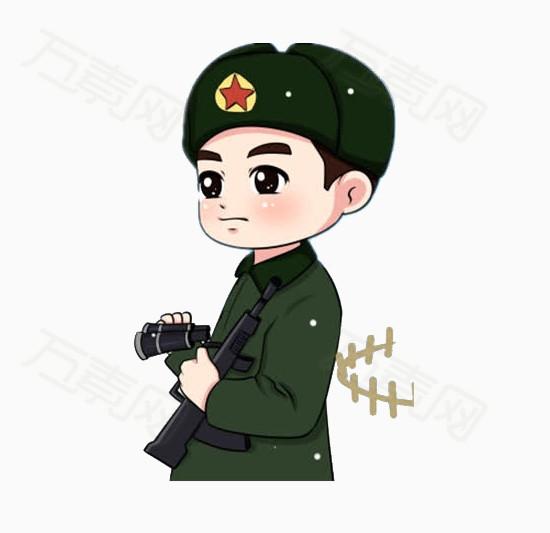 卡通军人图片免费下载_卡通手绘_万素网