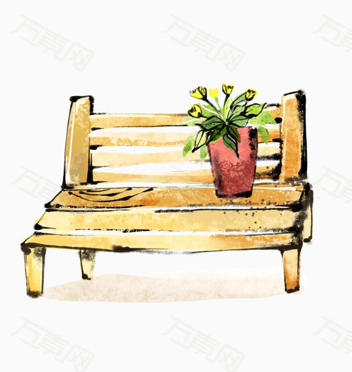 卡通手绘椅子