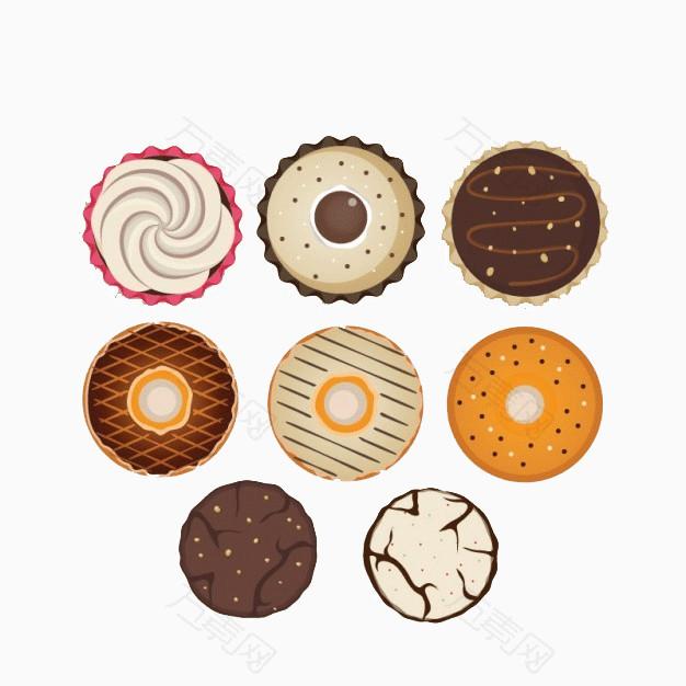 卡通手绘饼干甜点设计图片