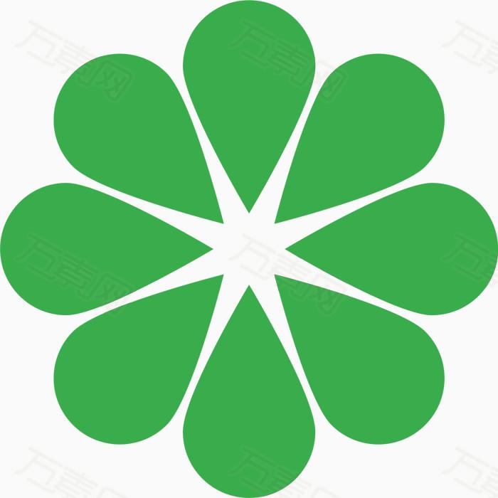 绿色花纹圆圈虚线圆元素