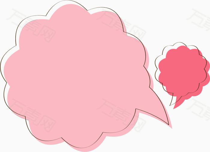 卡通 手绘 童真 花边 边框 可爱 对话框 气泡