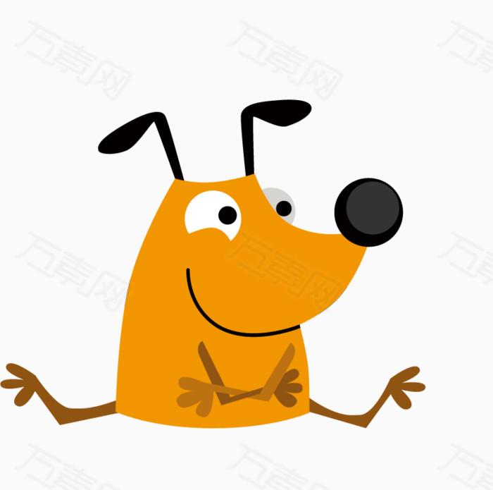 小黄狗  可爱 卡通 表情包 萌萌的  动物园