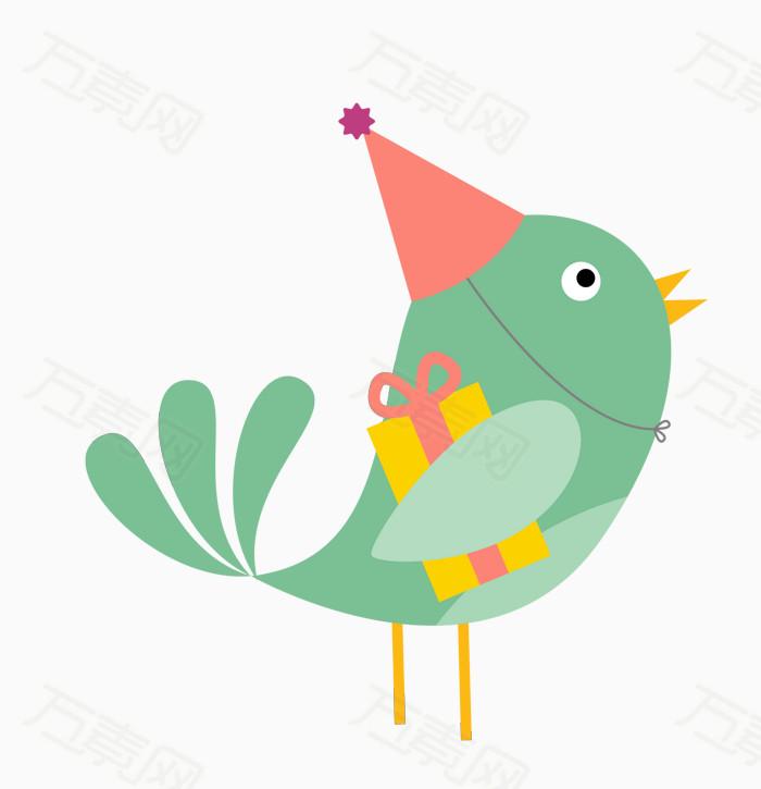 可爱卡通手绘小鸟