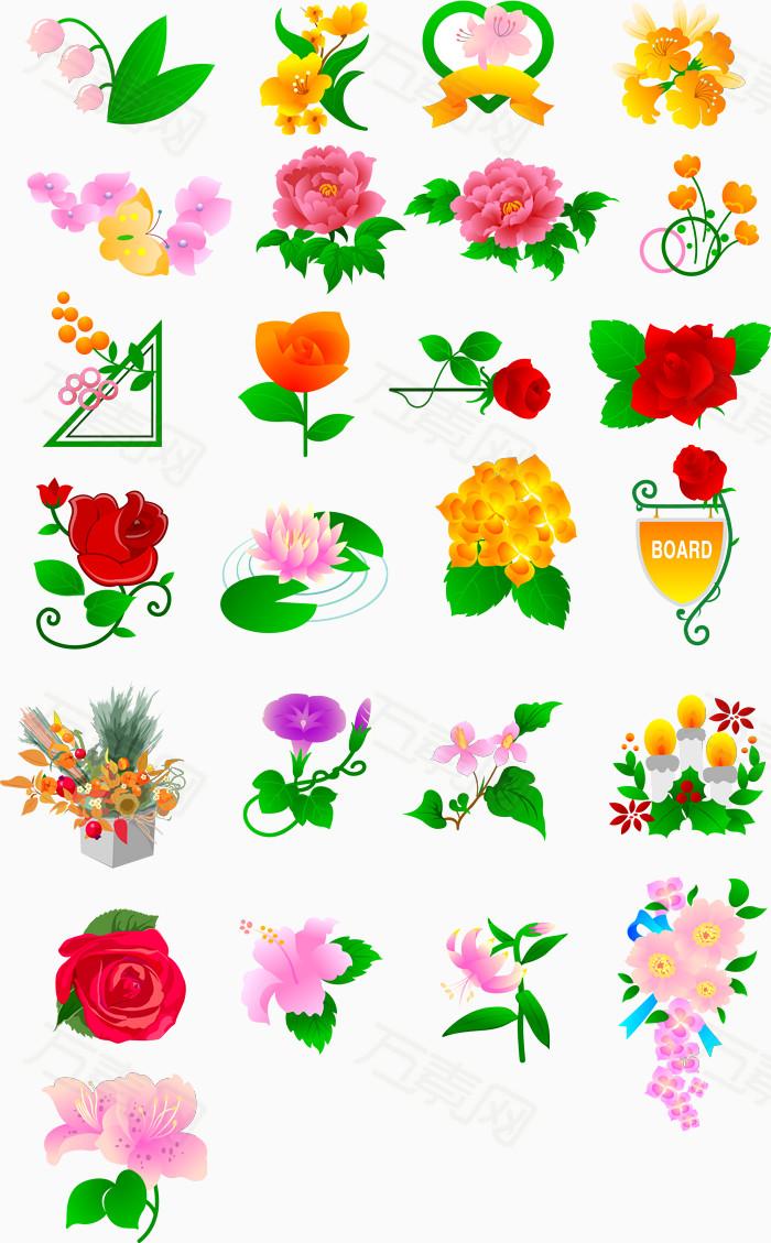 各种花卉平面图