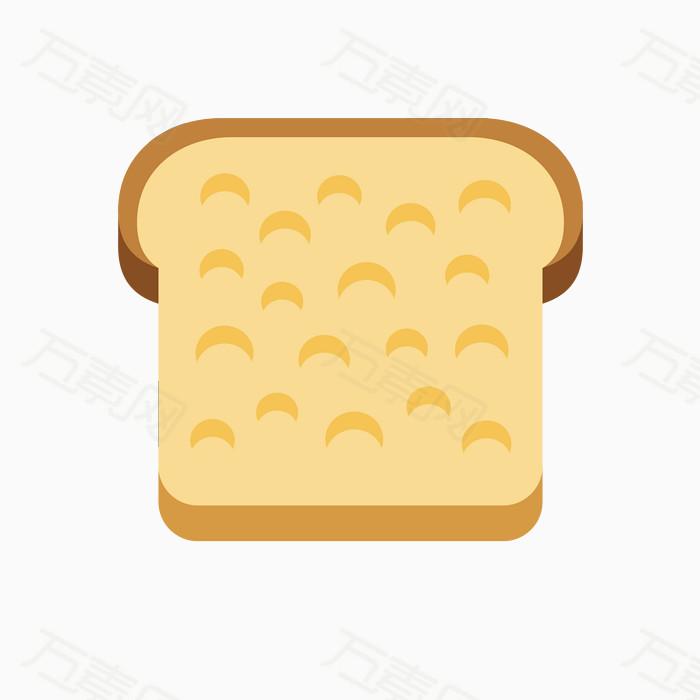 卡通面包 面包 扁平化面包 卡通食物 扁平化图片