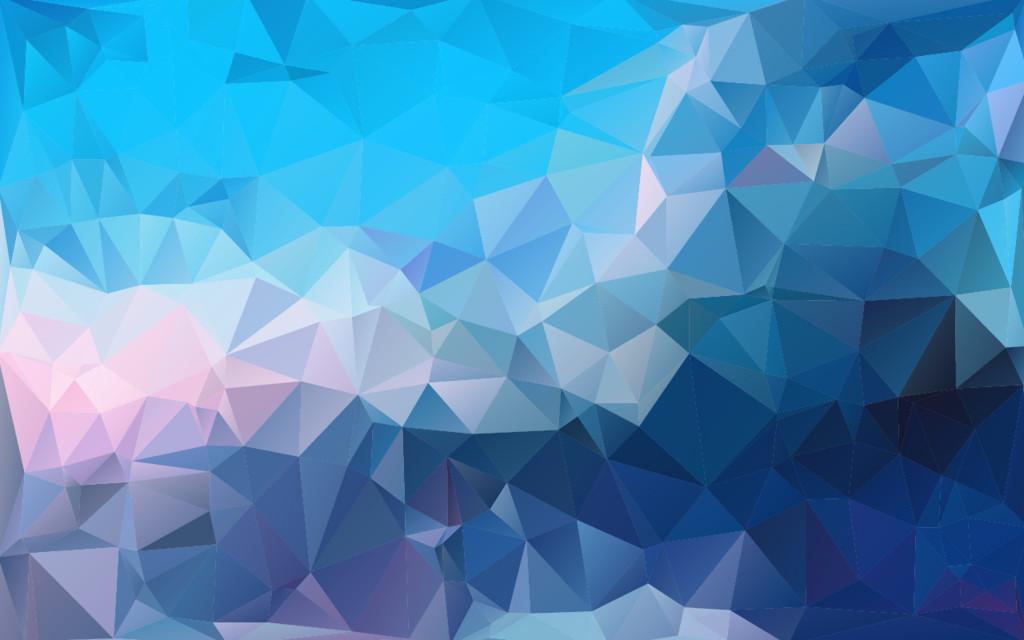 蓝色渐变马赛克纹理三角形多边形