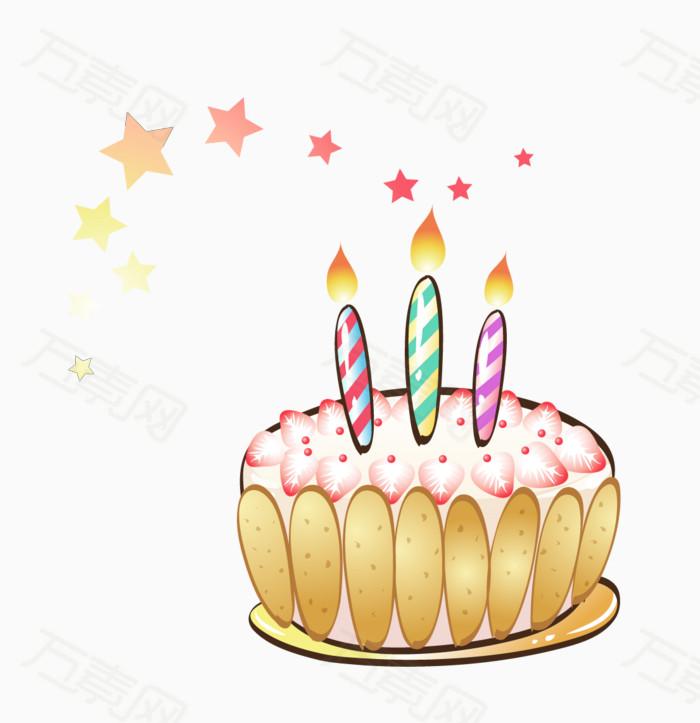 矢量蛋糕蜡烛