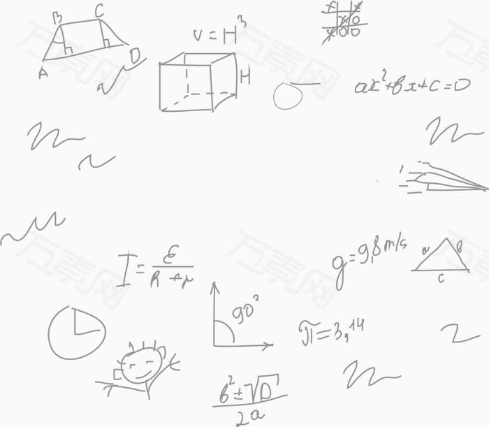 数学公式png矢量素材