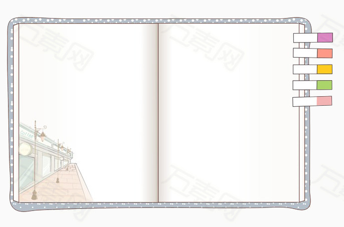 万素网 素材分类 卡通书本边框  4460 万素网提供卡通书本边框png设计图片
