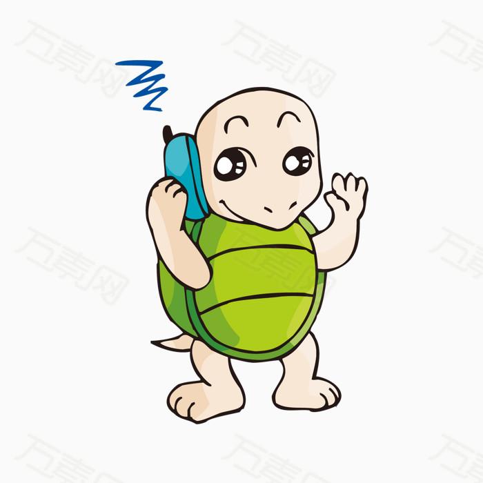 可爱打电话小乌龟