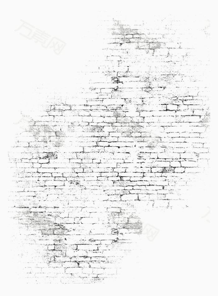 万素网 素材分类 复古黑色砖墙背景  3927