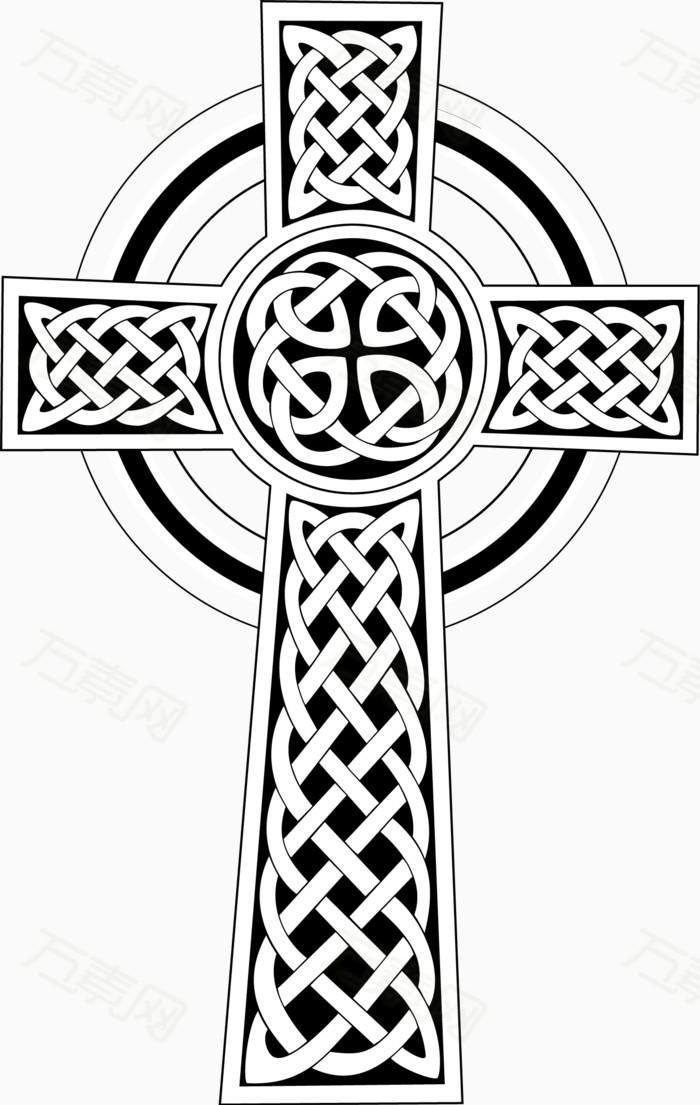 矢量手绘十字架