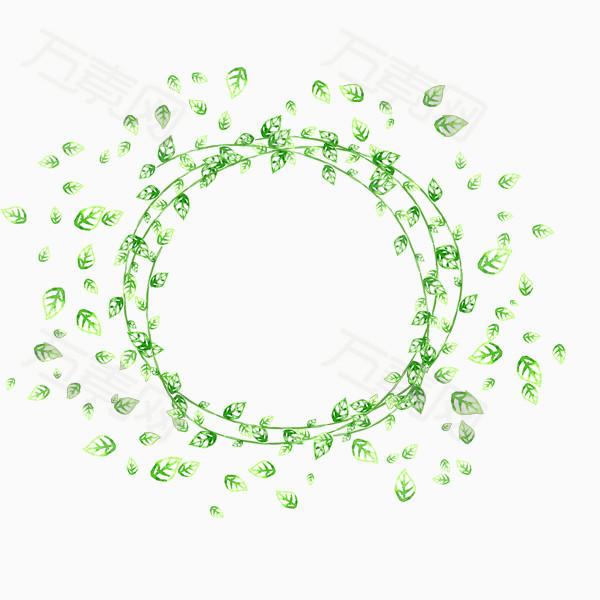 漂浮圆圈树叶