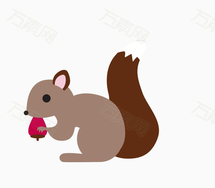61 儿童节 松鼠 卡通动物 手绘动物   插画 可