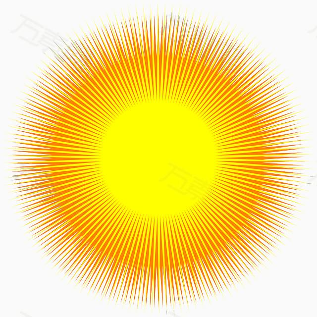 手绘太阳图片素材