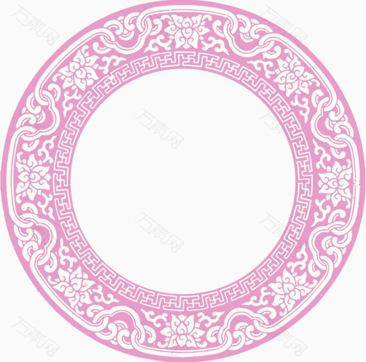 花纹圆圈边框