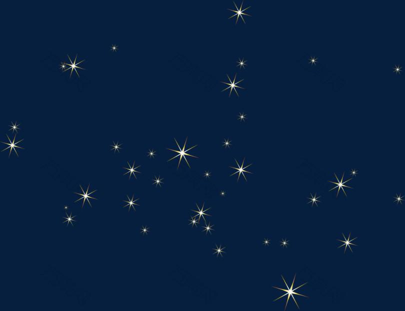 矢量手绘闪光的星星