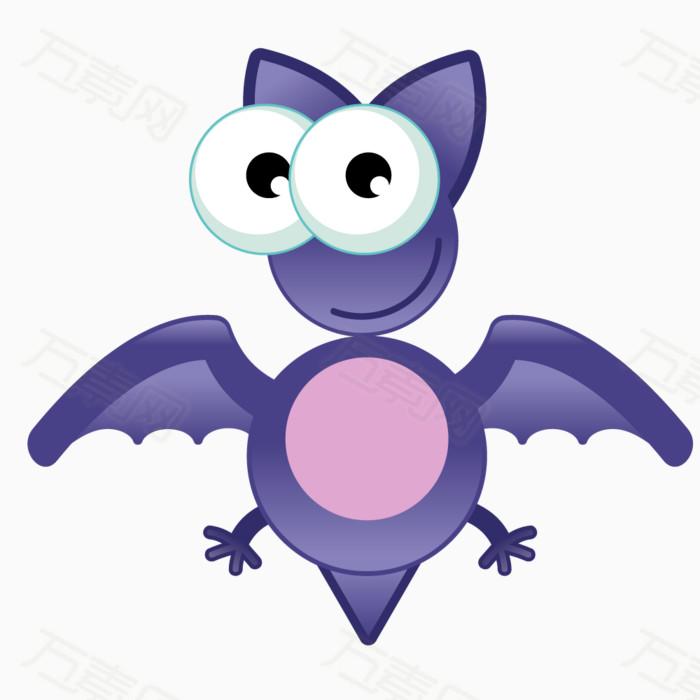 手绘卡通动物蝙蝠