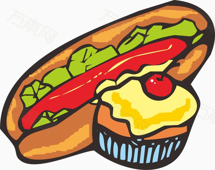 万素网 素材分类 手绘食物  13311 万素网提供手绘食物png设计素材