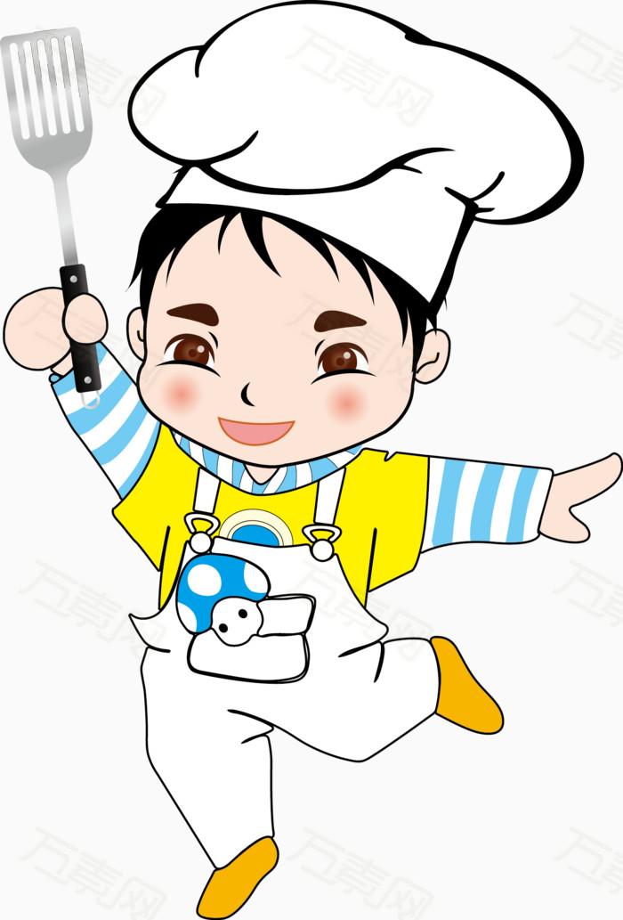 卡通厨师图片免费下载_卡通手绘_万素网