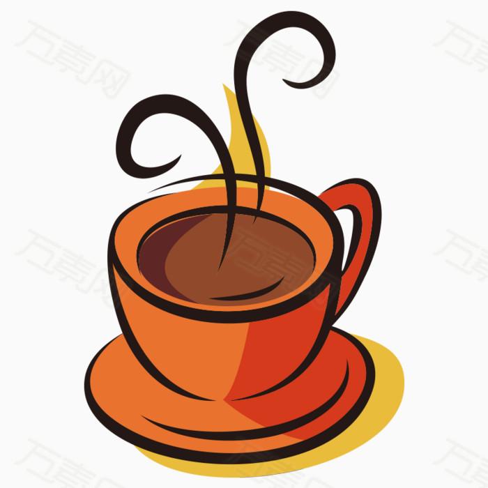 卡通手绘线条咖啡杯创意素材