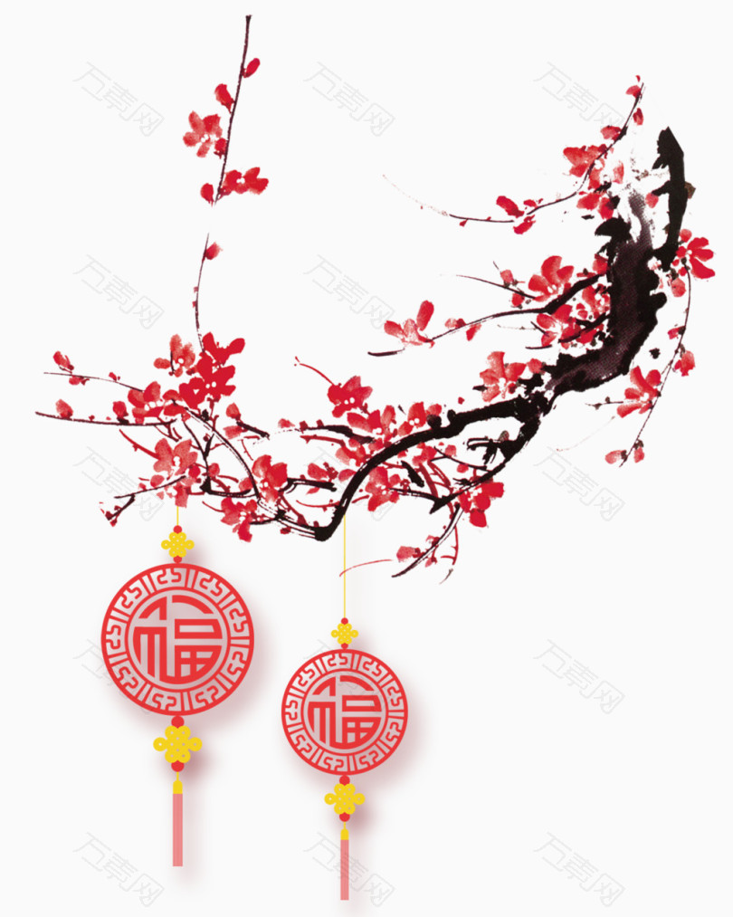 新年中国结梅花装饰