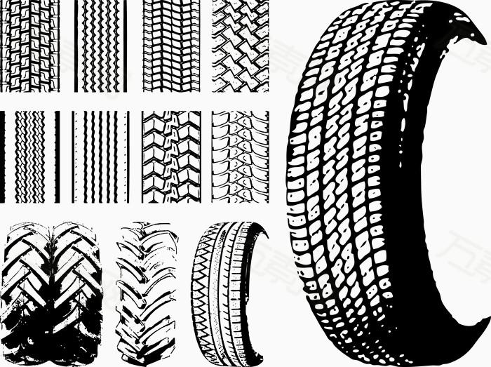 轮胎创意设计素描