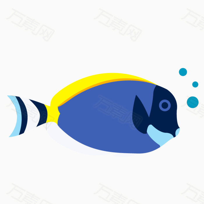 卡通小鱼 鱼 小鱼 淡水鱼 热带鱼 蓝色小鱼图片