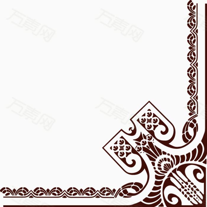 万素网 素材分类 欧式边角花纹