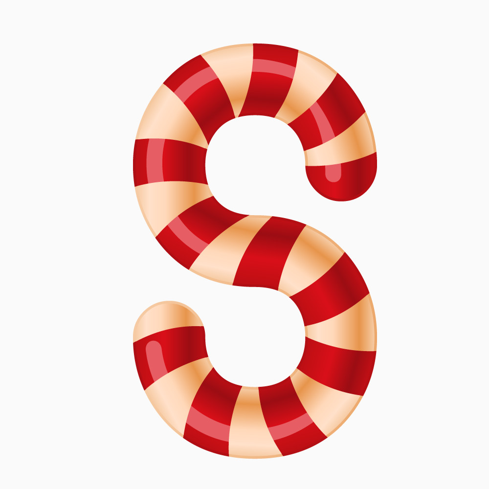圣诞节糖果字母S