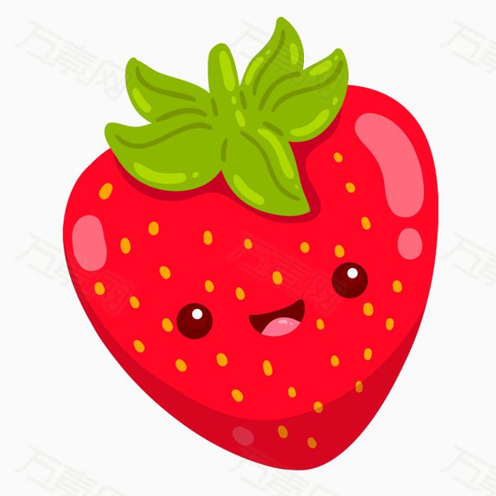 可爱风草莓图片免费下载_卡通手绘_万素网
