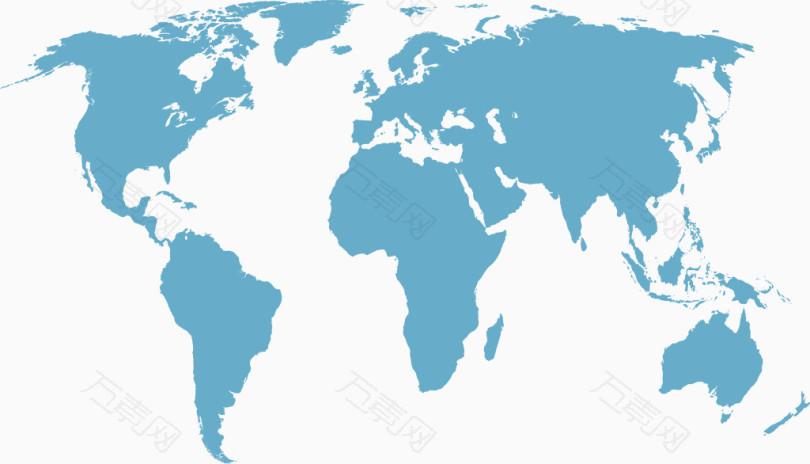 世界地图剪影_卡通手绘_3462*1983px_编号180214_png