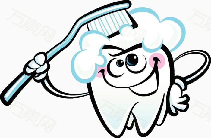 牙齿刷牙图片免费下载_卡通手绘_万素网