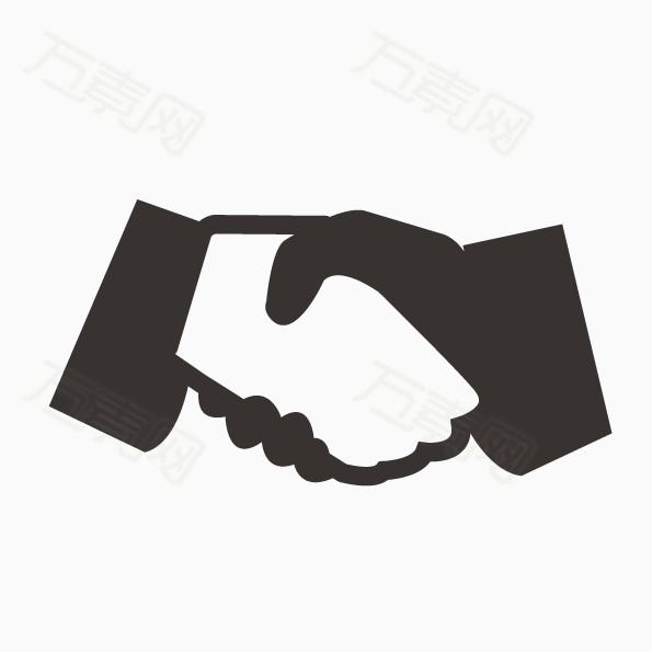 矢量合作握手图片免费下载_ppt元素_万素网