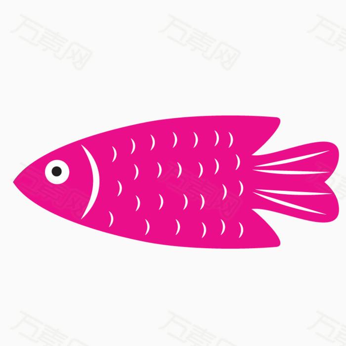 鱼类 彩色 手绘 海洋生物 免扣png素材 卡通图片