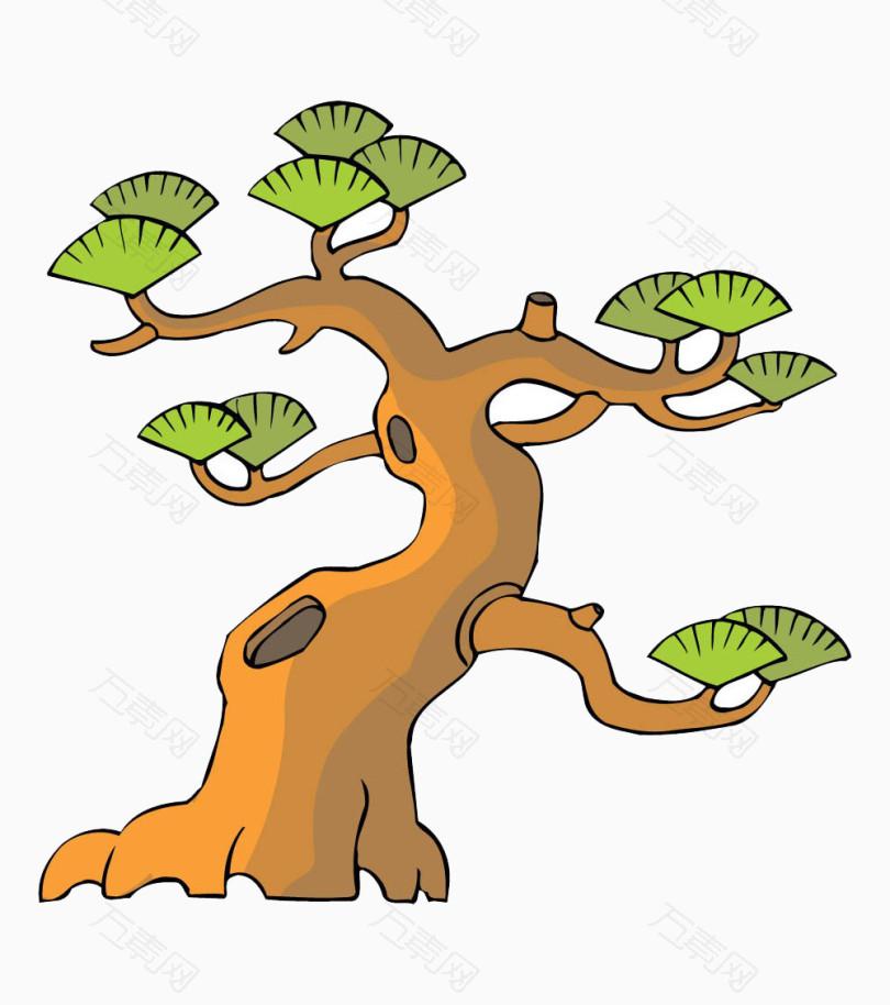 卡通松树免抠素材图片